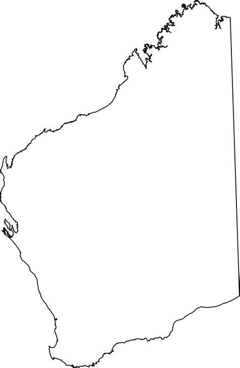 printable maps western australia clipart western australia outline