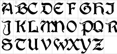 5 best images of gothic font generator old english