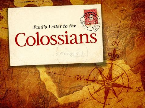 the book of the book of colossians poswerpoint template new testament books