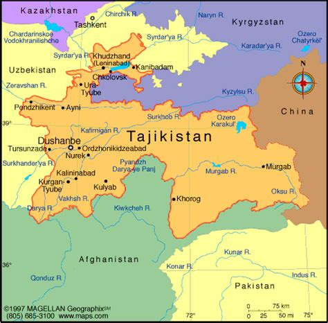 tajikistan map tajikistan map political regional maps of asia regional political city