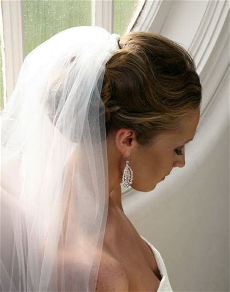 Wedding Hair With Veil by Wedding Hairstyles Updos With Veil And Tiara