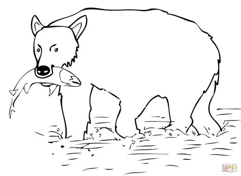 kodiak bear coloring page quail coloring brown bear catch the salmon page grig3 org