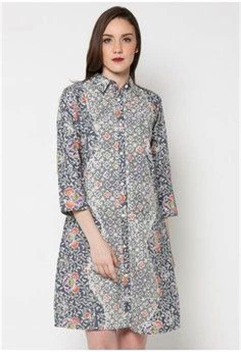 Batik Fashion Wanita Combination Amanda Top dress katun cap clt indigo trikot pb rm from batik putra