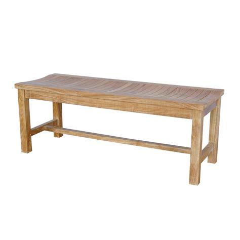 Backless Teak Bench teak bh 448b casablanca outdoor two seat backless bench atg stores