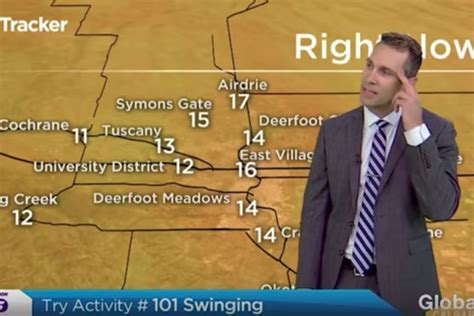 want to try swinging canadian weatherman wants you all to try swinging video