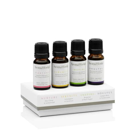Aromatheraphy Essential Lemongrass Donna Chang Original box of four essential oils by aromaworks