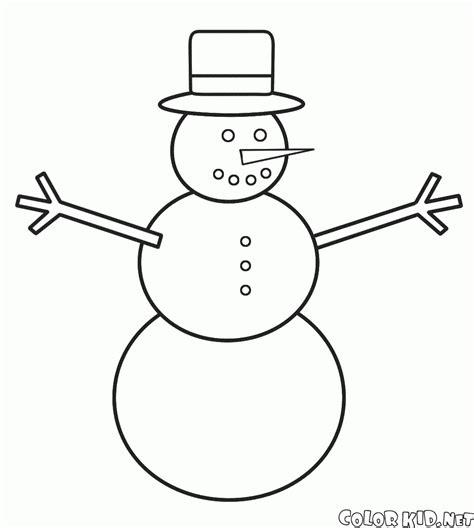 dibujos de navidad para colorear muñecos de nieve dibujo para colorear el sombrero del mu 241 eco de nieve