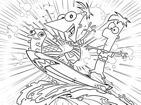 Phineas And Ferb Coloring Page free printable phineas and ferb coloring pages for