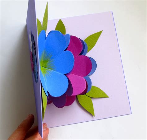 How To Make Pop Up Flowers Card In Paper - mmmcrafts made it ms pop up flower card