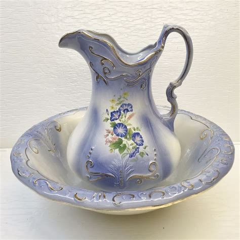 Flower Pitcher Set 2202 best images about wash bowl pitcher set on