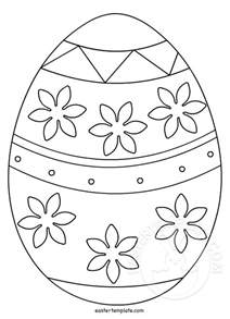 Easter Picture Templates by Printable Easter Egg Template Easter Template