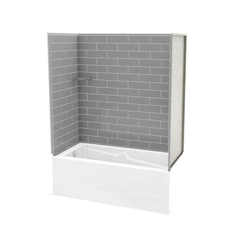 bathtub wall kit maax utile metro ash grey tub wall kit with avenue tub