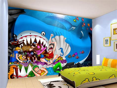 jual wallpaper dinding custom motif cartoon  piece