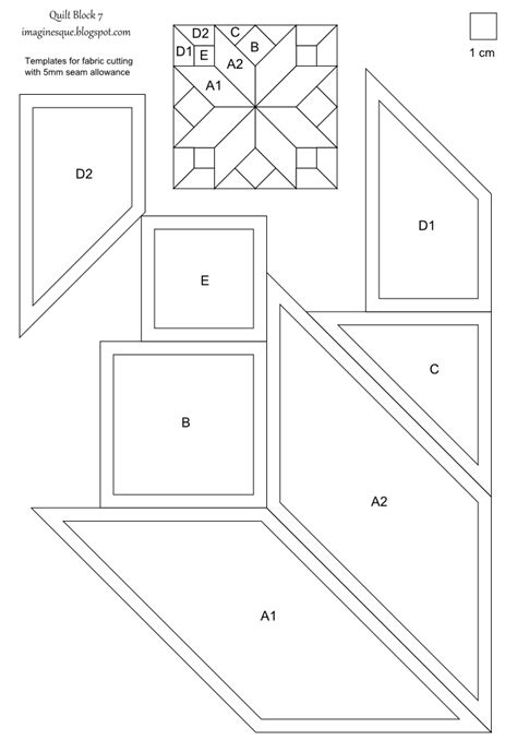 quilt cutting templates imaginesque quilt block 7 pattern and template