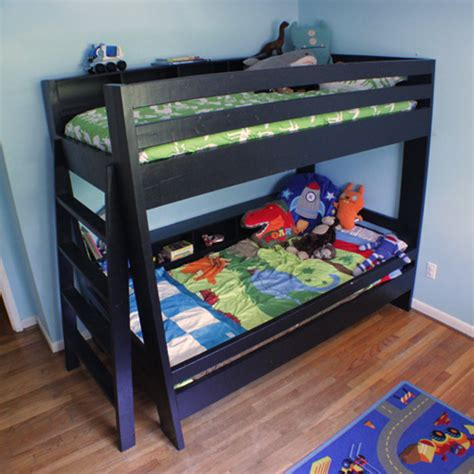 Custom Bunk Bed Plans White Custom Bunkbeds Free Plans Diy Projects
