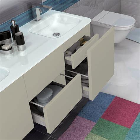 mobile bagno grigio mobile bagno grigio natura 140 cm sospeso moderno con