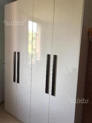 armadio 4 ante usato armadio a 4 ante colore bianco e ciliegio posot class