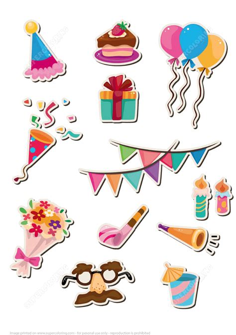 Craft Paper Stickers - printable stickers for happy birthday free