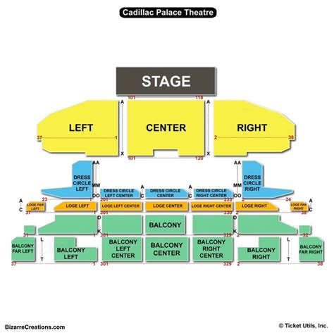 Cadillac Palace Theatre Parking by Cadillac Palace Theatre Seating Chart Seating Charts