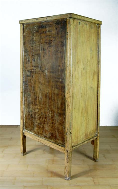 antique yellow apothecary cabinet 28 drawer herb