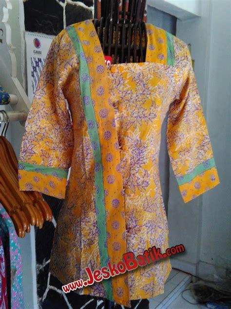 Tunik Batik Shibori blus batik cap b603 batik pekalongan by jesko batik