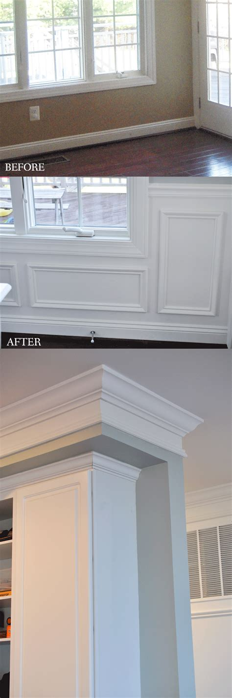 Wainscoting Cabinets by Remodelaholic White Kitchen Makeover Small Updates To