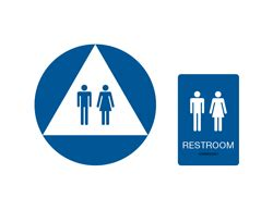 unisex bathrooms california premium ca braille restroom signs women s california