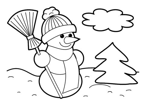 Christmas Coloring Pages Free Large Images Big Printable Coloring Pages