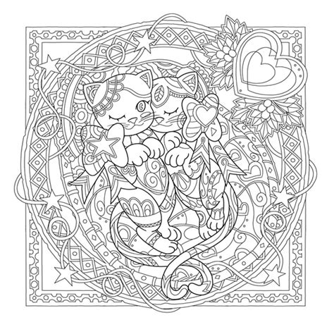 millions of cats coloring pages mystical cats in secret places waves of color cats