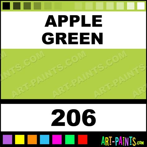 apple green soft pastel paints 206 apple green paint apple green color sennelier soft