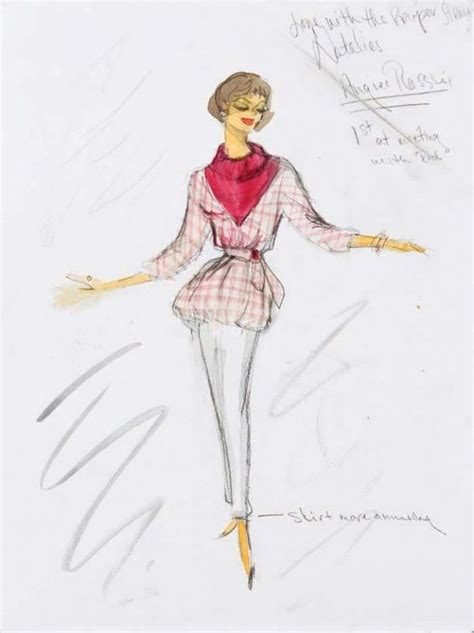 dress pattern designing by natalie edith head sketch for natalie wood in quot love with a proper