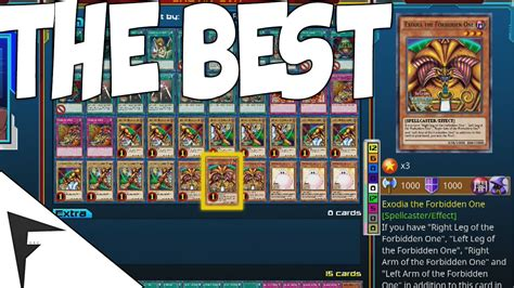 best yugioh deck build yu gi oh legacy of the duelist best deck in the whole