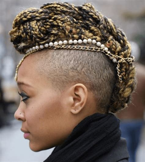 Shaved Sided Braided Mohawk | 6 edgy braided mohawk hairstyles for black women in 2014