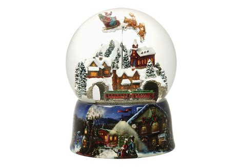 christmas snow globe music box sharper image