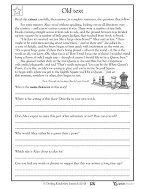 Reading Worksheets For 5th Grade by Reading Worksheets For Fifth Grade