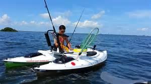 Dream Decks kayak catamaran fishing in tampa bay youtube