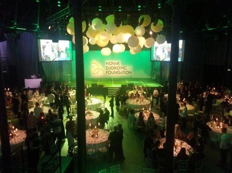 themed dinner events london the novak djokovic foundation raises 163 1 200 000 at