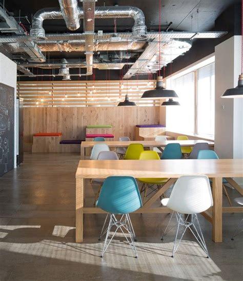office furniture dealer office design breakout area farmhouse table chairs lounge design