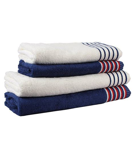 navy bath towels trident white navy blue strips 4 pcs bath towels set buy trident white navy