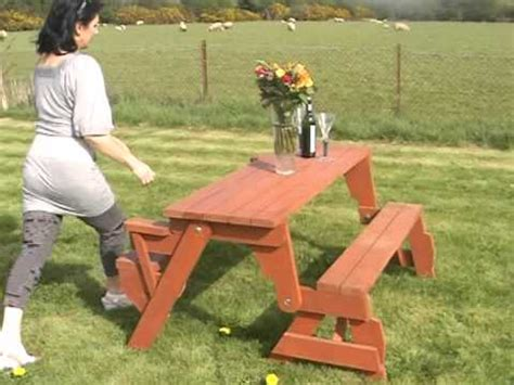 bench that converts to picnic table bench converts to picnic table youtube