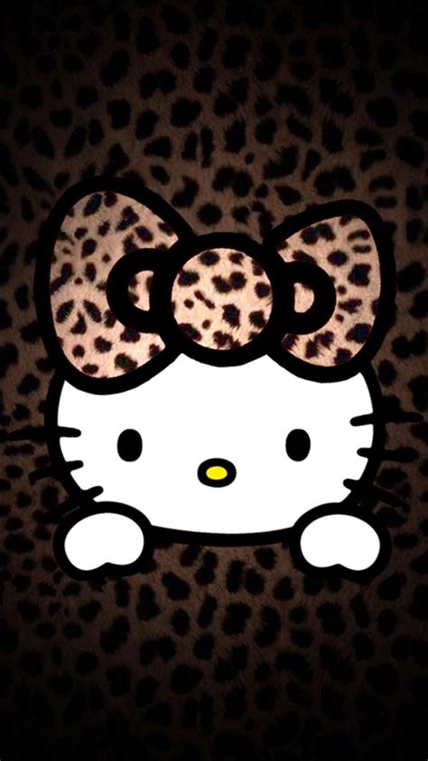 wallpaper hello kitty leopard leopard pattern hello kitty iphone 6 6 plus and iphone 5