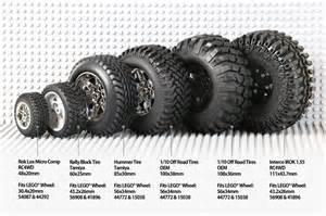 Car Tire Sizes By Model Rc Tires On Lego 174 Rims Sevenstuds