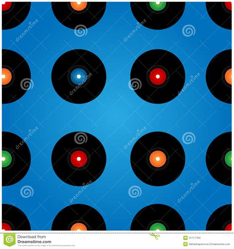vinyl pattern background seamless vinyl records pattern or background vector