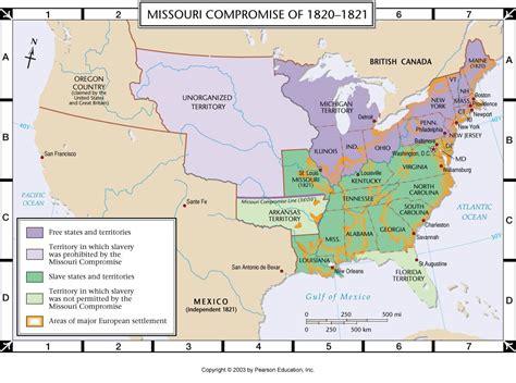 missouri compromise map atlas map missouri compromise of 1820 1821