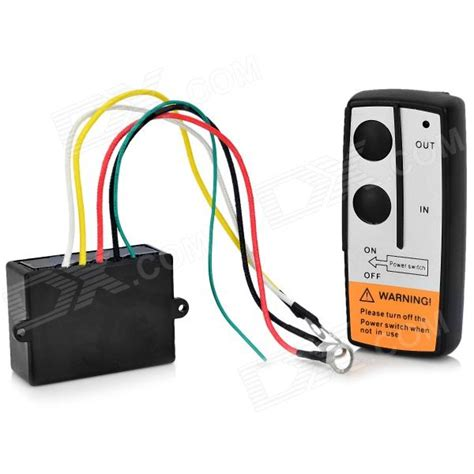 electric winch wireless remote system black