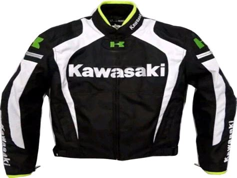 leather motorcycle racing jacket motorcycle kawasaki leather racing jacket black white