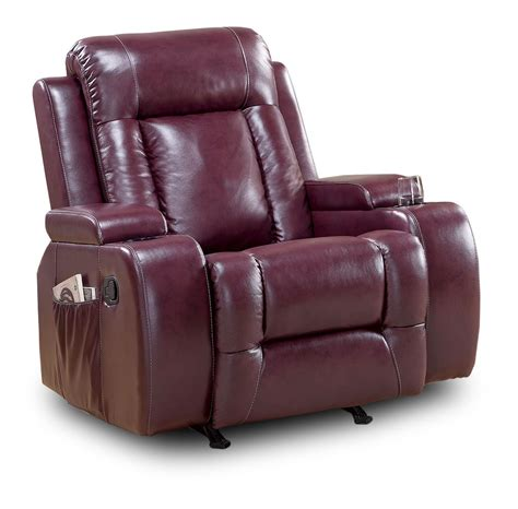 sillon reclinable y mecedora sillon reclinable burgundy con mecedora mod luke