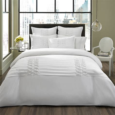 white bedding set city scene triple diamond white duvet set from