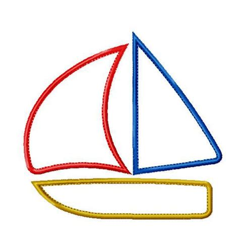 simple boat template big dreams embroidery simple sail boat machine embroidery
