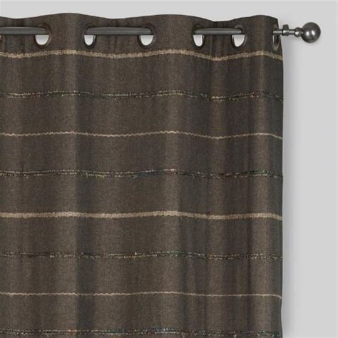 striped grommet curtains gray striped chambray grommet top curtains set of 2